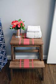 Wood Bekvam Stool Striped Hacks