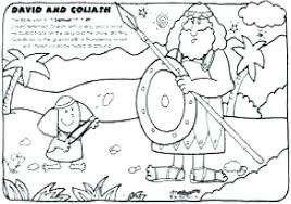 David And Goliath Coloring Page And Coloring Pages P Page For Free