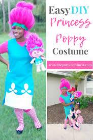 easy diy princess poppy troll costume