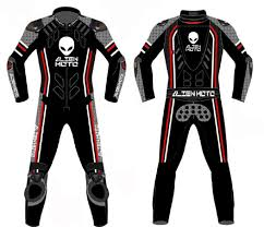 according to alien moto the synthetic motorcycle suit is more comfortable and easier to move around in than your normal racing leathers