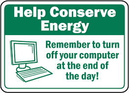 Turn Off Computer Remember To Turn Off Computer Sign F7501