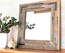 rustic wood framed mirrors. Rustic Bathroom Mirror Mirrors Small Modern Reclaimed Wood Framed . A