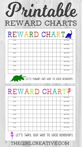 Reward Chart For 2 Year Old Printable Reward Chart The Girl Creative