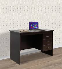 buy study table with three drawers in wenge finish by crystal