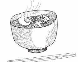 Noodle Illustration Vector Drawing Quality Vectors And Drawings