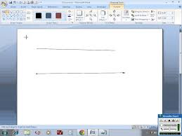 Draw Horizontal Vertical Lines In Ms Word Youtube