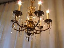 antique brass and crystal chandelier cleaner