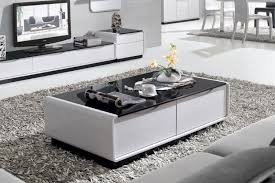 black glass coffee table. Presta Black Glass Coffee Table - 1.3m