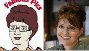 A brilliant move by the Republican candidate John McCain: Pick a running mate that looks just like King of the Hill's housewife Peggy Hill. - sarah%2520palin%2520and%2520peggy%2520hill