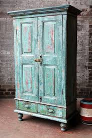 Antique Kitchen Cupboard Storage Cabinet Media Cabinet Indian Green