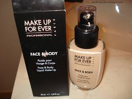 review make up for ever face and body foundation