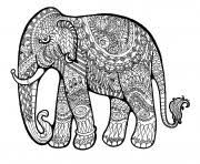 Elephant For Adults Color Hard Difficult Coloring Pages Printable