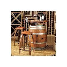 Wine Barrel Kitchen Table Vintage Oak Wine Barrel Bistro Table Bar Stools Wine Enthusiast
