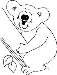 Small Picture Koala Bear with Big Eye Coloring Page Color Luna