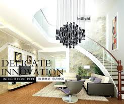 modern hanging light fixtures hybrid type stair large chandelier modern glass pendant light fashion brief lighting
