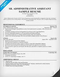 10 senior administrative assistant resume templates