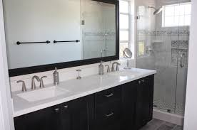 bathroom remodeling san diego. One Of Miramar Kitchen And Bath\u0027s Expert Bathroom Remodeling Projects Features A Black-and-white Themed With Mosaic Tile Stand Up Shower That San Diego