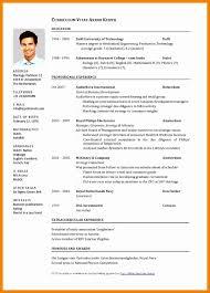 English Curriculum Vitae 15 Curriculum Vitae English Example Pdf Rigarda