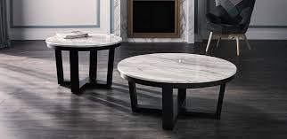 image of small round marble coffee table