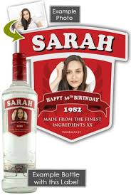 personalised 50th birthday gift smirnoff vodka bottle 70cl
