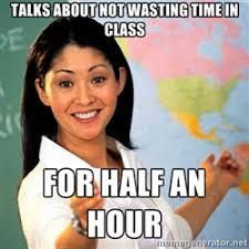 unhelpful teacher | Meme Generator via Relatably.com