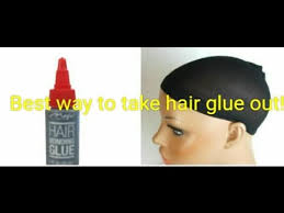 best easiest way to remove hair glue
