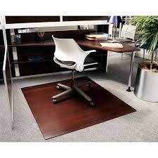 custom chair mats for carpet. Engineered Mosaic Light Brown Bamboo Chair Mat Custom Mats For Carpet