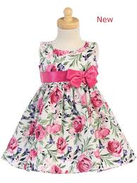Style No M727l Lito Cotton Floral Print Dress With Bow