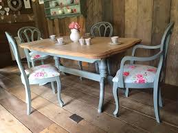 duck egg blue shabby. Upcycled Shabby Chic Painted Dining Table And 4 Chairs Duck Egg Blue Cream G