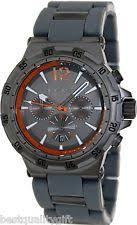 michael kors melbourne chronograph gunmetal orange mens watch item 2 michael kors melbourne gunmetal tone silicone wrapped orange chrono watch mk8299