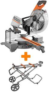 ridgid miter saw table. ridgid miter saw with roller stand table