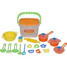 <b>Набор</b> детской посуды Wader (<b>20 элементов</b>) (в ведёрке) купить в ...