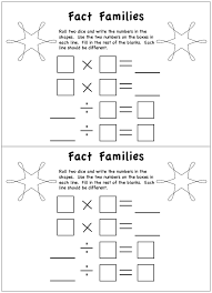Worksheets | Fact families, Multiplication and Worksheets