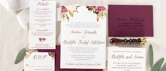 Sample Of Weeding Invitation Burgundy Floral Marsala Wedding Invitation Sample