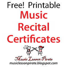 Piano Certificate Template Printable Piano Certificates Download Them Or Print