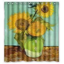 artistic shower curtains.  Shower Van Gogh Shower Curtain Intended Artistic Shower Curtains