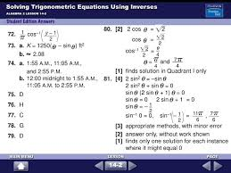 solving trigonometric equations using inverses14 80 2 2 cos 2