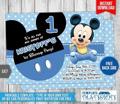 baby mickey mouse birthday invitation by templatemansion on baby mickey mouse birthday invitation by templatemansion