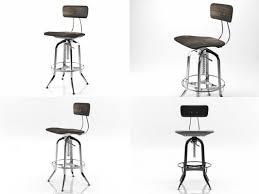 3d vintage toledo bar chair model
