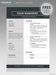 Clean Resume Template Stunning Free Clean Resume Template Classic Resume Templates Pinterest
