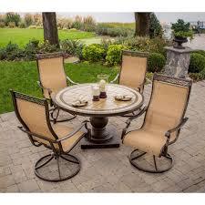 hanover patio furniture. Hanover Monaco 5-Piece Patio Outdoor Dining Set Furniture The Home Depot