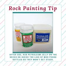 mod podge definitely rocks for sealing and protecting painted rocks
