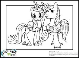 Small Picture My Little Pony Princess Cadence Coloring Page Coloring Pages