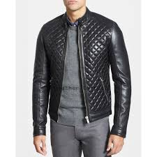 Buy Online Men Lamb Leather Jacket | Chic Style Men Leather ... & Buy Online Men Lamb Leather Jacket | Chic Style Men Leather Quilted Jacket Adamdwight.com