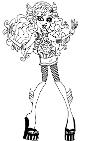 Small Picture Monster High Lagoona Coloring Pages GetColoringPagescom
