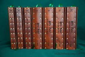 all 7 harry potter books with leather covers