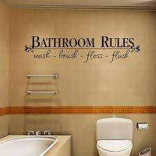 bathroom rules vinyl wall art decal words lettering sticker pvcfamily home decor on wall art stickers bathroom with bathroom rules quotes words wall sticker home bathroom decor vinyl