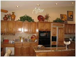 above kitchen cabinet decorations decorating ideas for above kitchen cabinets attractive