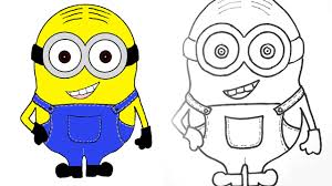 minion how to draw and color a minion step by step