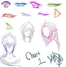 Anime Manga Eyes And Hair Chart By Shikiariandrinight On
